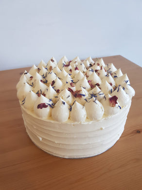 Keto Special Occasion Cakes - VANILLA ALMOND-Cream Covered- Phone Orders Only- 0492 958 575