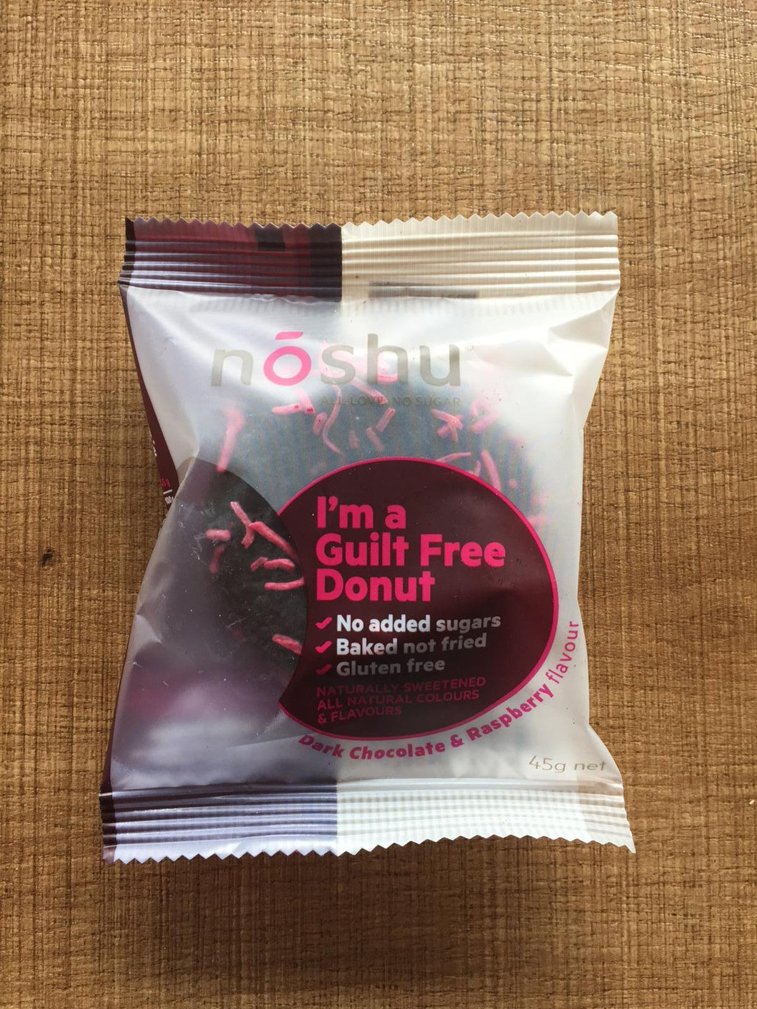 Noshu Donuts - Dark Chocolate & Raspberry $4.6 (available in-store only)