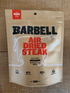 Barbell Biltong Air Dried Steak 200g- The Burn Chilli Spice