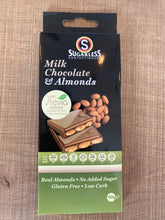 Load image into Gallery viewer, Sugarless Confectionary - Milk Chocolate & Almonds (with stevia)