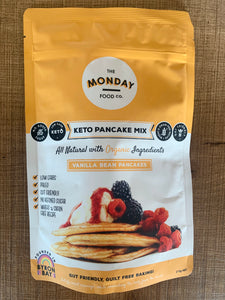 The Monday Food Co- Keto Pancake Mix- Vanilla Bean 215g
