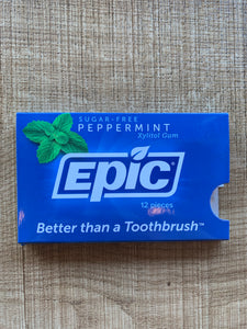 Epic Peppermint Dental Gum Blister