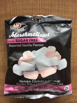 Sugarless Confectionary - Assorted Vanilla Marshmellows