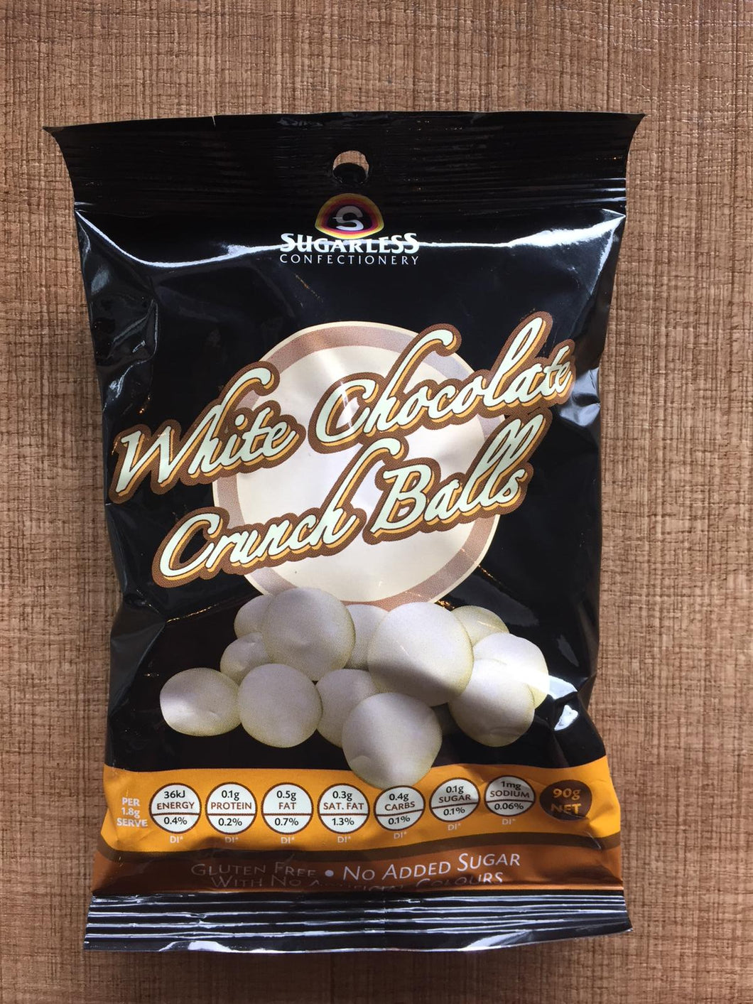 Sugarless Confectionary - White Chocolate Crunch Balls