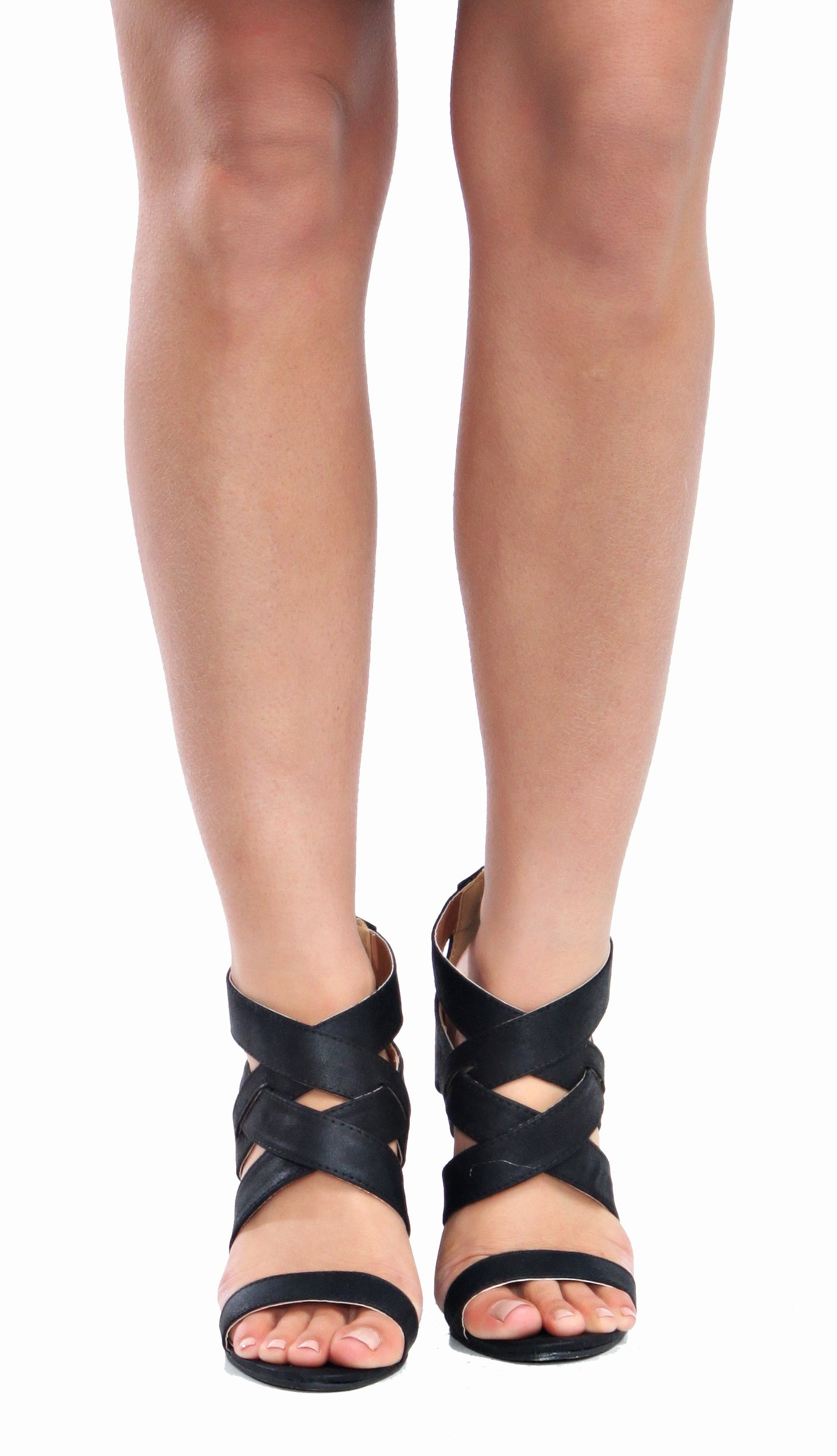 Criss Cross Wedges- Black