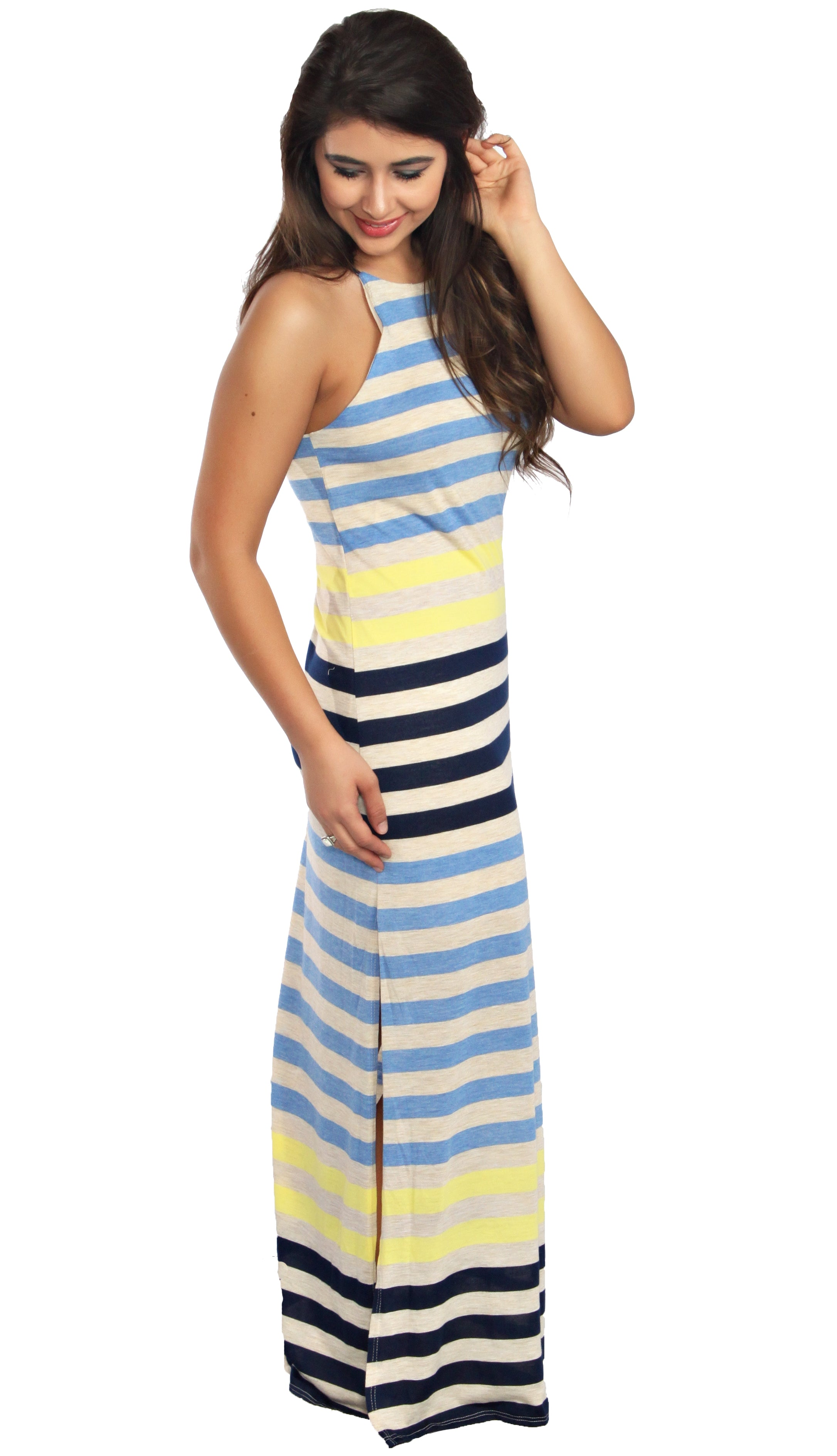 Ocean Waters Maxi Dress- Blue