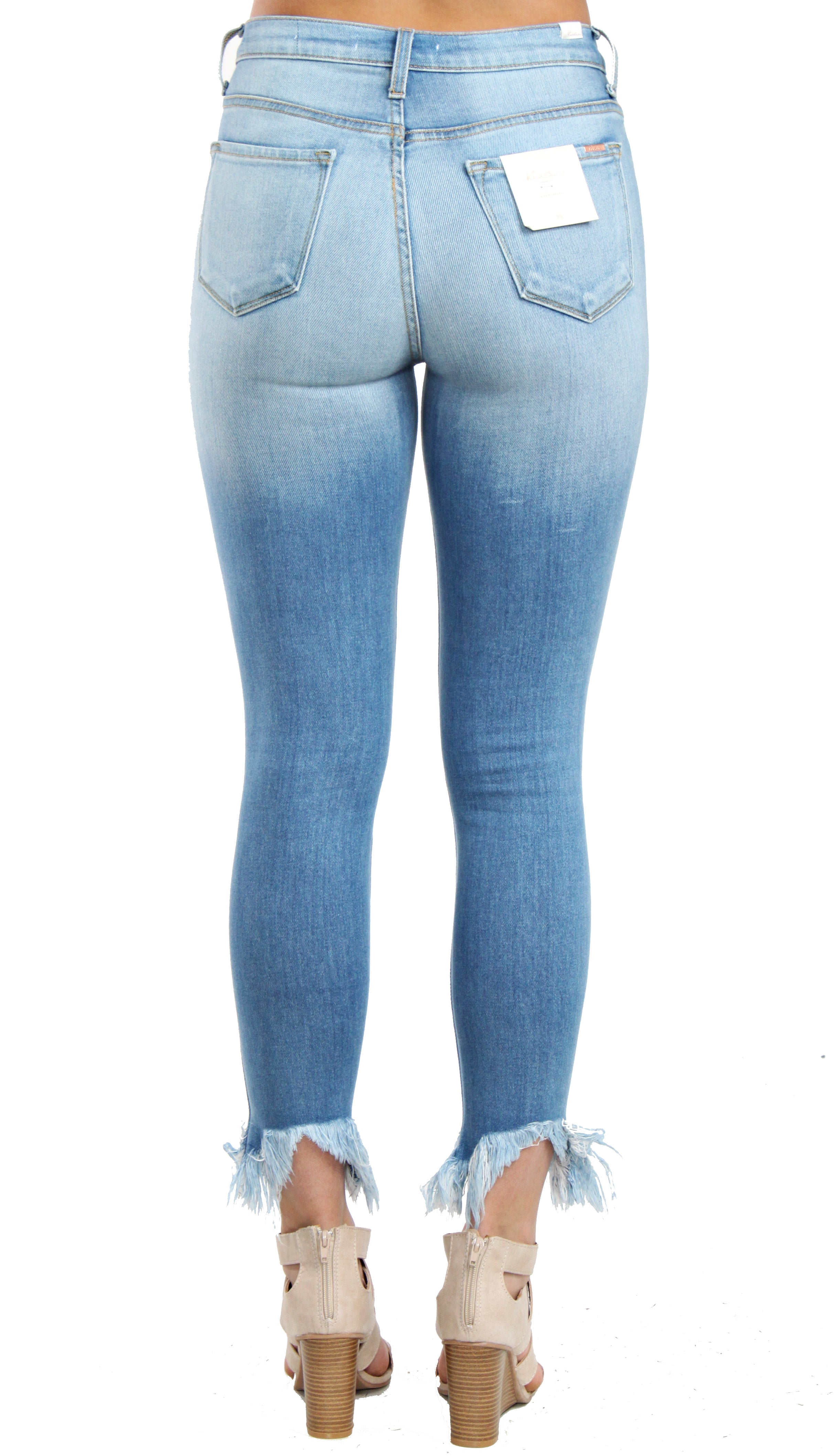 KanCan Premier Distressed Jeans- Light Wash Denim