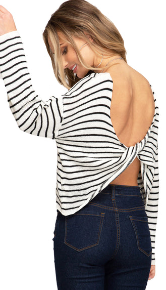 Back Back Back It Up Crossed Back Light Wight Top- White