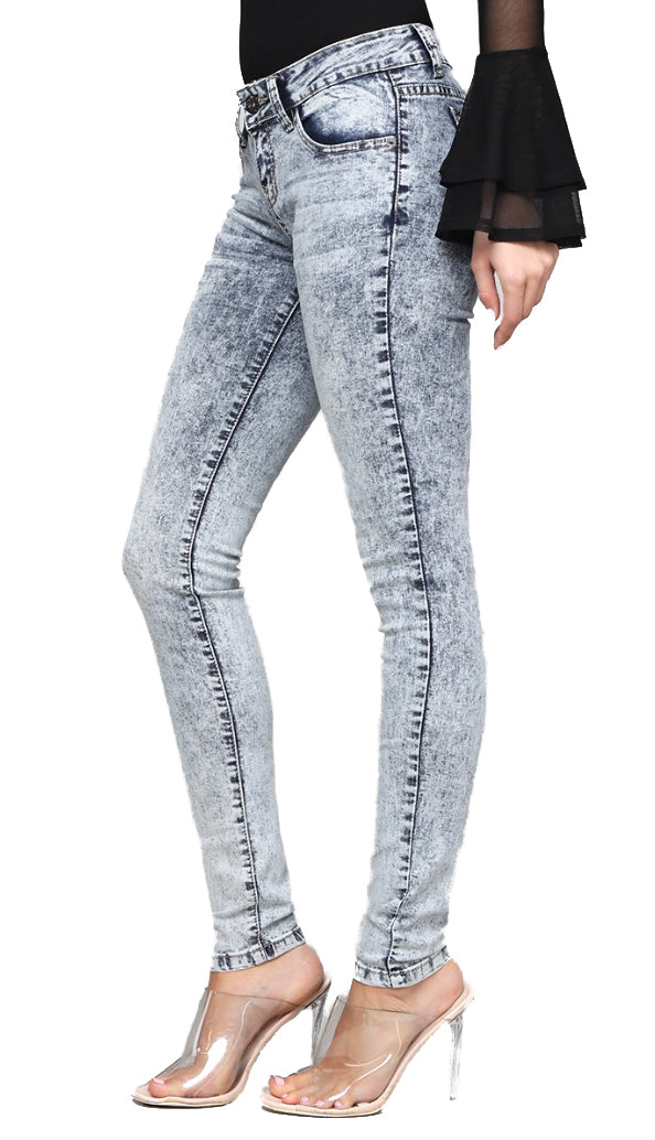 Acid Wash Jeans- Light Denim