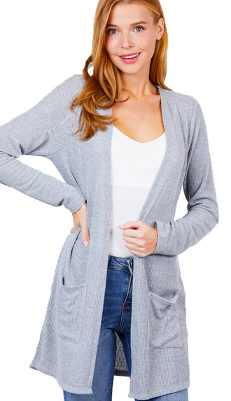 Packing Lightly Lightweight Side Slit Cardigan