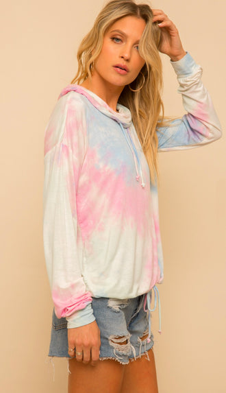 Cotton Candy Tie Dye Pullover- Multi