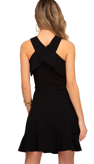 Cross My Heart Dress- Black