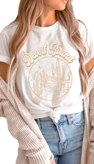 Desert Bound Graphic Tee- White