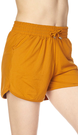 Brushed Dolphin Shorts- Mustard