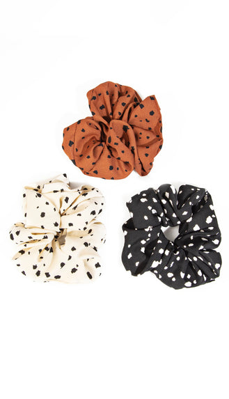 Polka Dot Scrunchie Set- Multi