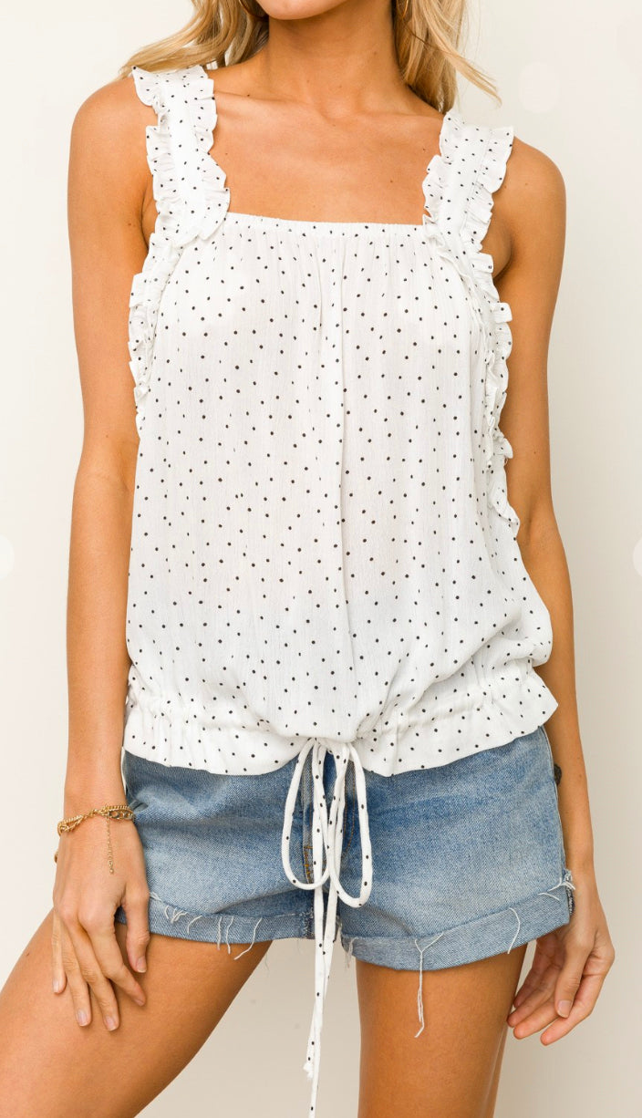 Dottie And Lace Cami Tank- Black