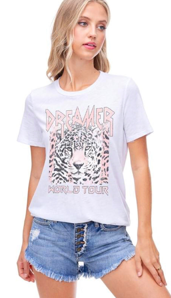 Dreamer World Tour Tee- Black