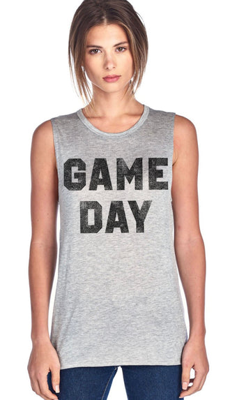 Game Day Tank- Heather Gray