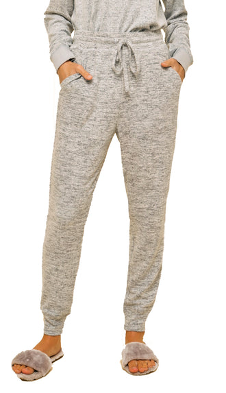 Brushed Hacci Jogger- Heather Gray