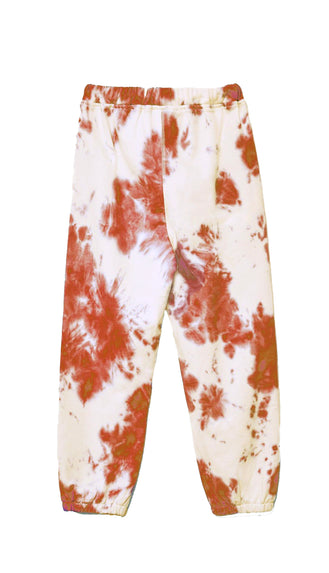 End Game Tie Dye Joggers- Rust