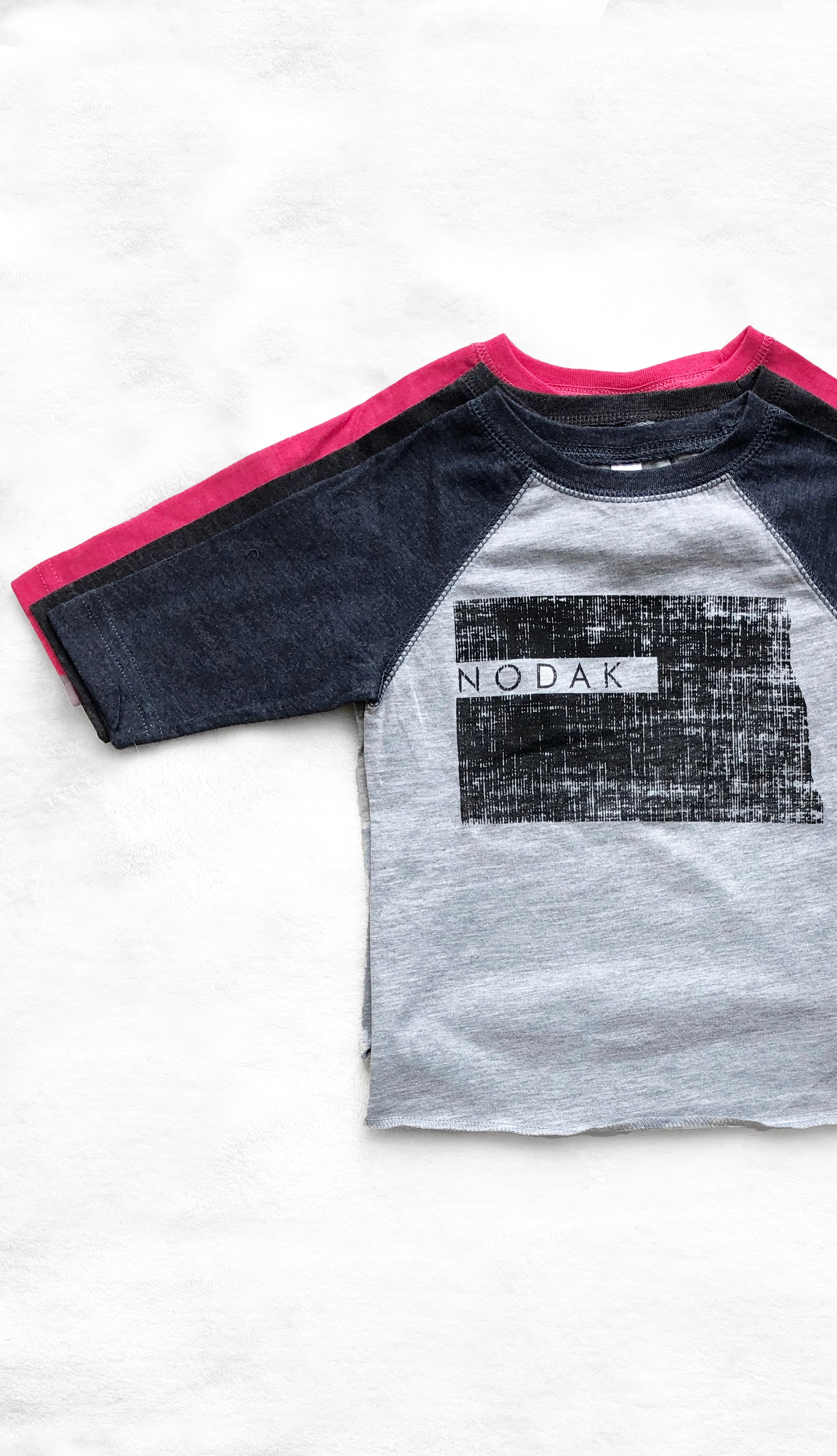 Kids Nodak Baseball Tee- Navy