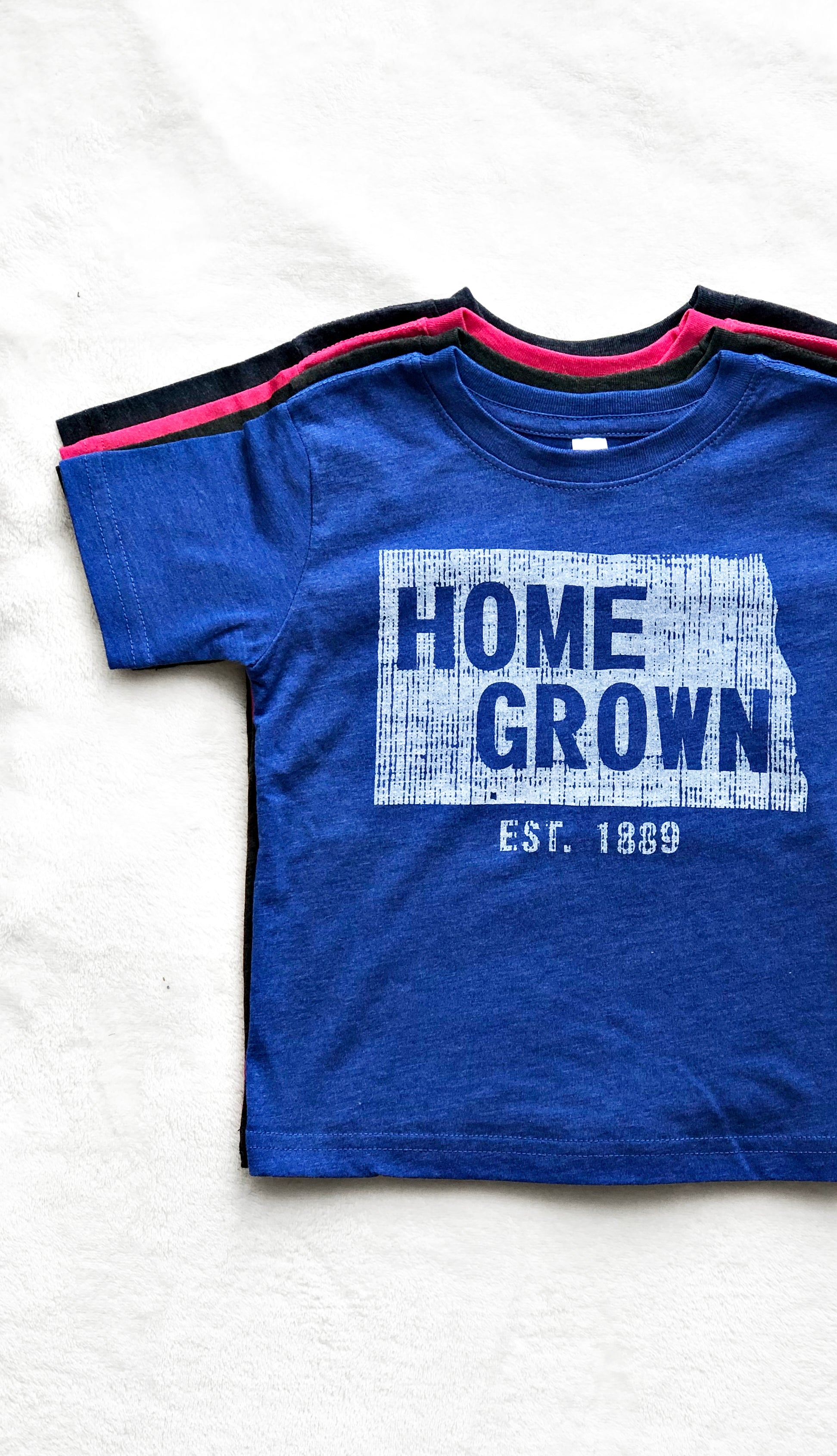 Kids Home Grown Tee- Royal Blue