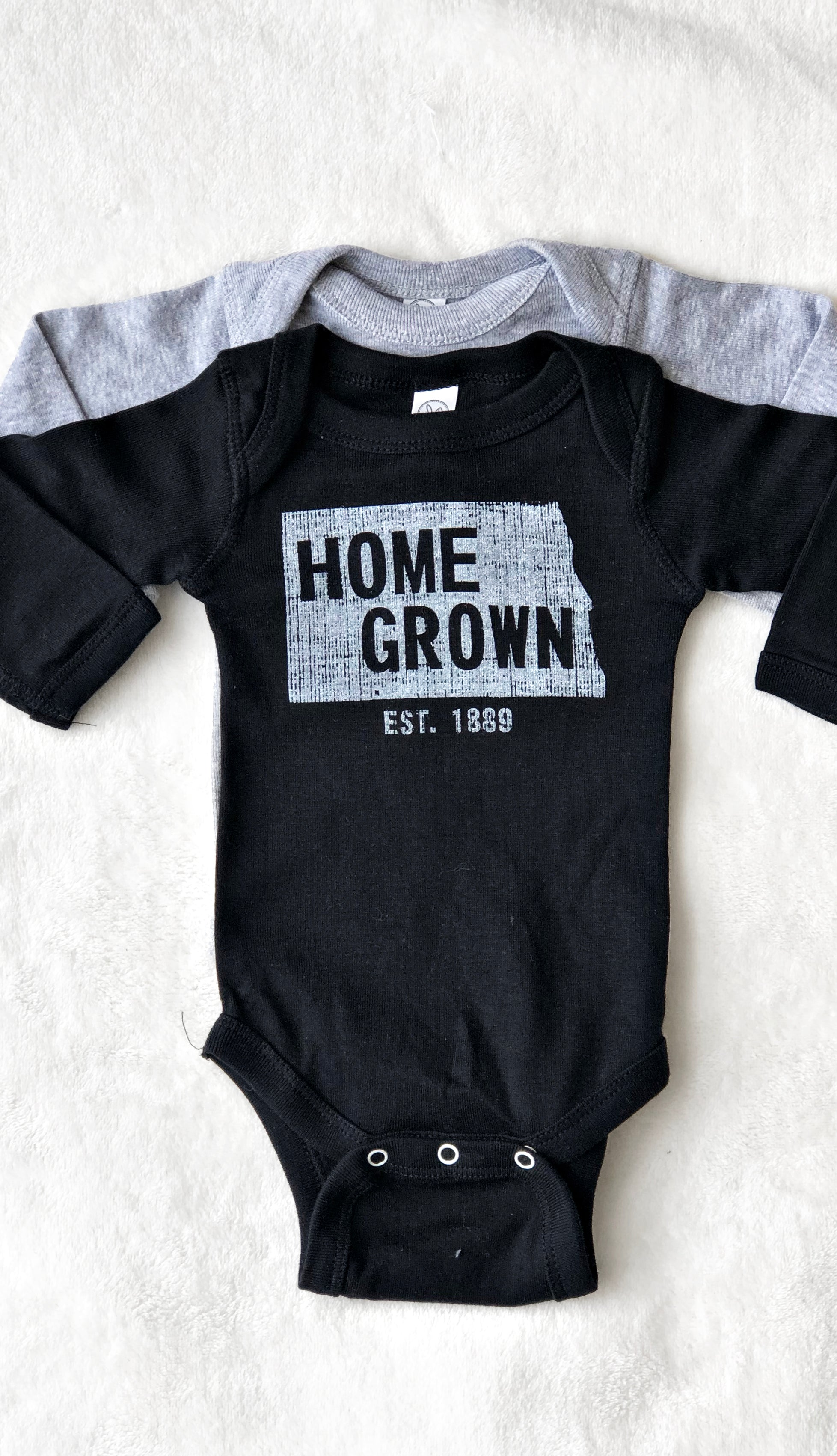 Kids Home Grown Bodysuit- Black