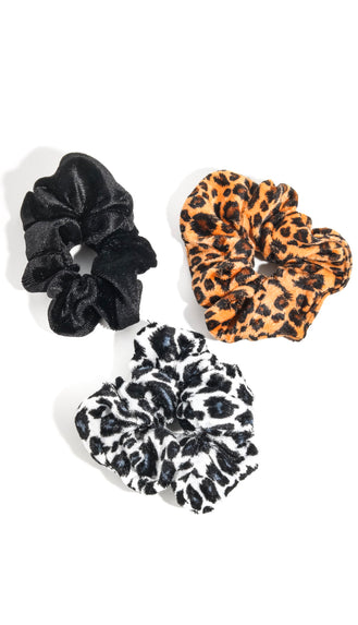 Leopard Scrunchie Set- Multi