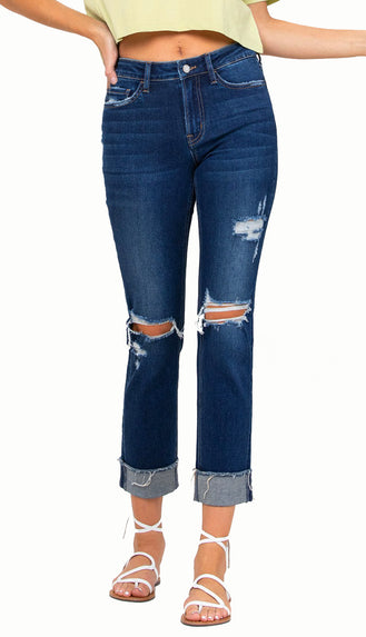 Flying Monkey Vervet Mama Fox Straight Denim (Mid Rise)