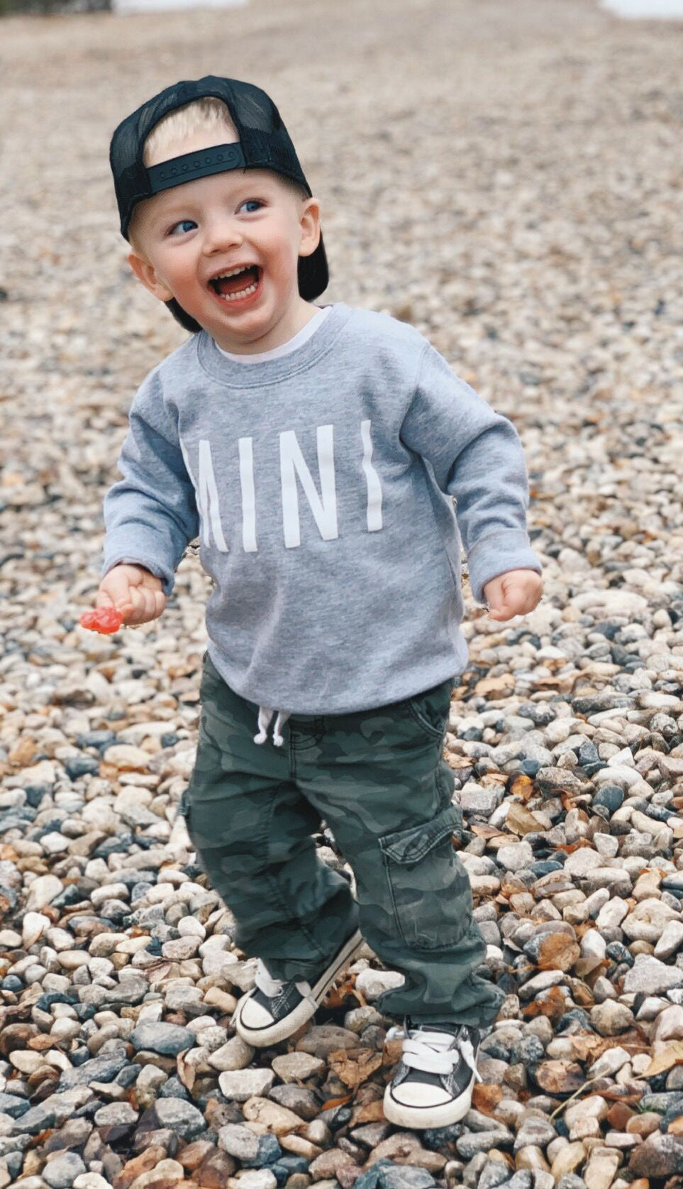 Mini Crewneck Sweatshirt- Navy