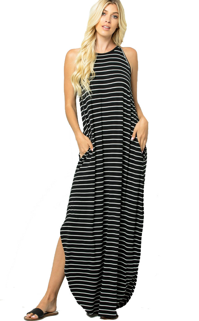 Everyday Stroll Maxi Dress- Black