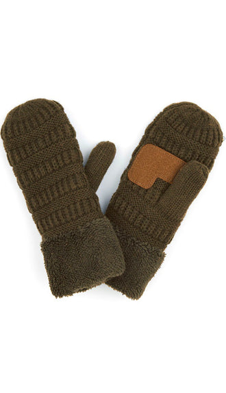 CC Solid Color Mitten Gloves