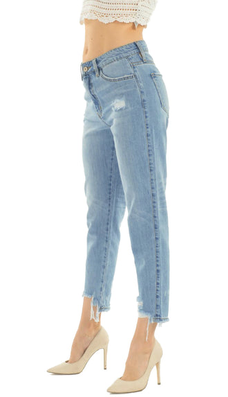 KanCan Mom Jean Denim- Light Wash