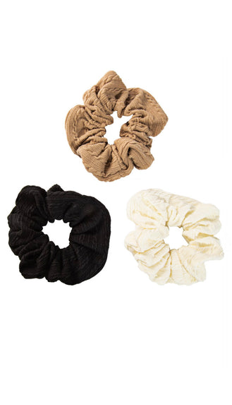 Natural Scrunchie Set- Multi