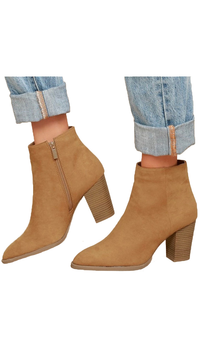 On Point Ankle Booties- Camel