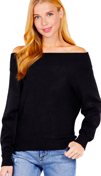 Chic And Soft Off Shoulder Sweater