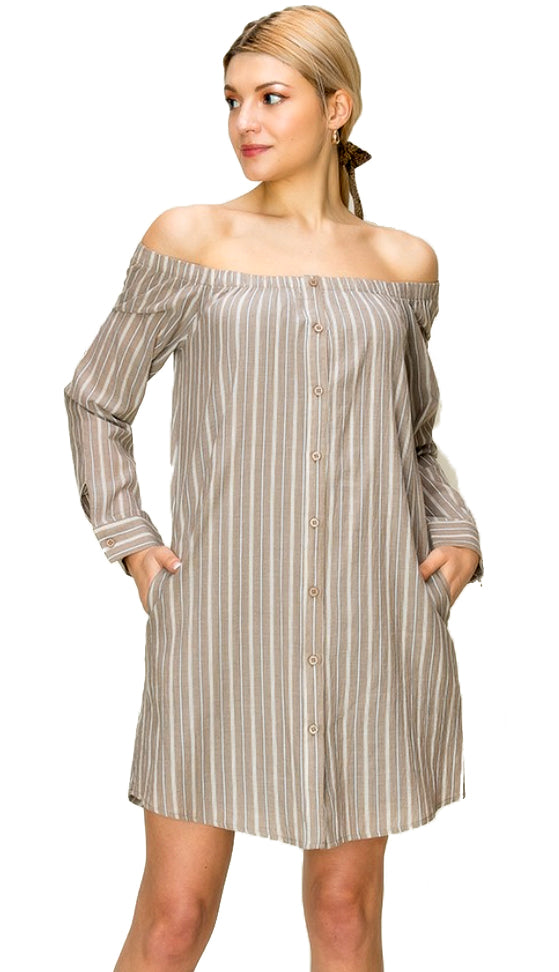 Nashville Nice Dress- Taupe