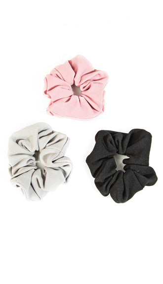 Ribbed Fabric Scrunchie Set- Multi