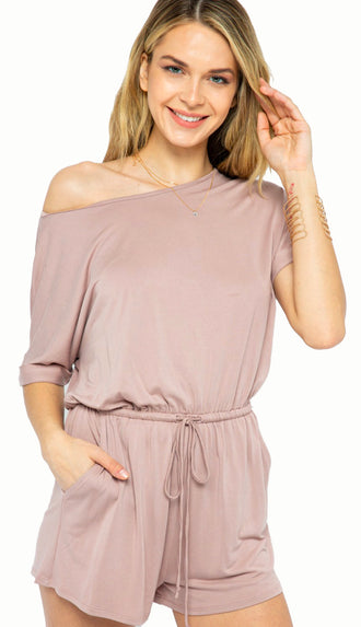 Comfort Is Key Modal Romper- Dusty Mauve