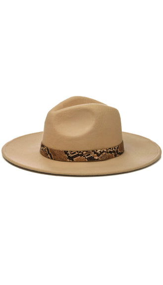 Snake Band Hat- Khaki