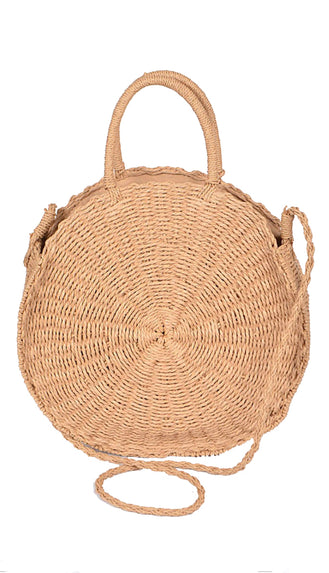 Straw Crossbody Bag- Khaki