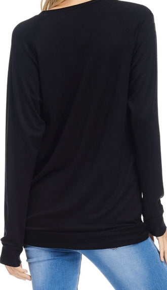 Sunday Funday Crewneck Sweatshirt- Black