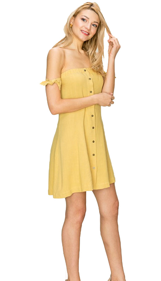 Field Of Dreams Dress- Sunflower Yellow