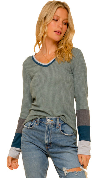 Everyday Comfort Thermal Top- Sage