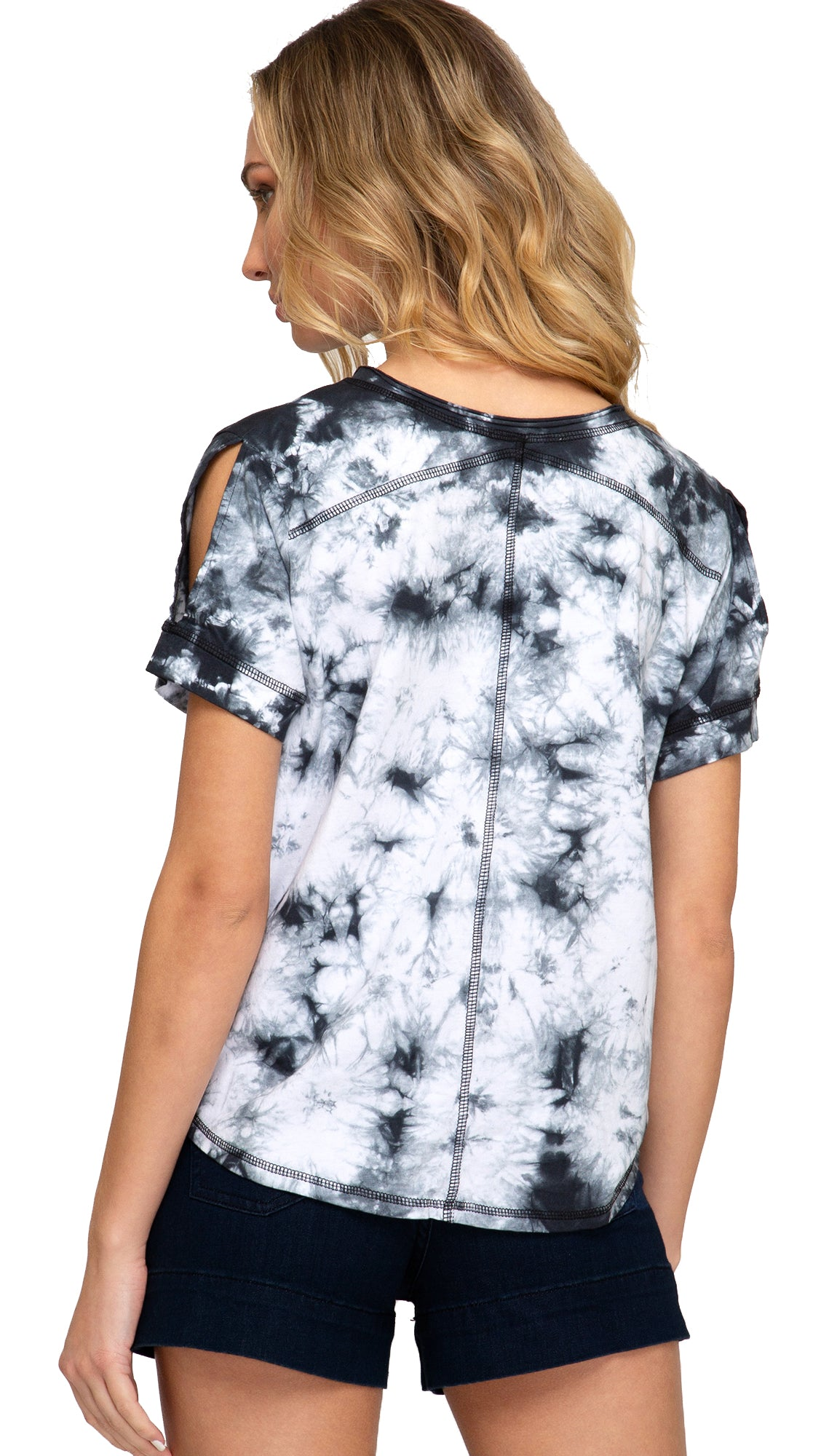Tie Dyed Today Top- Black