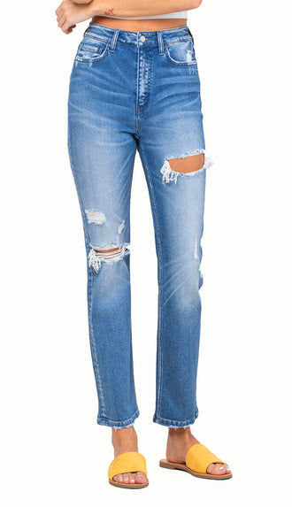 Flying Monkey Vervet Wavy Straight Denim (High Rise)