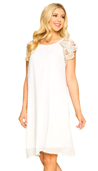 All For Love High Low Lace Dress- Ivory