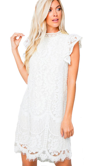 My Moment Lace Dress- Ivory