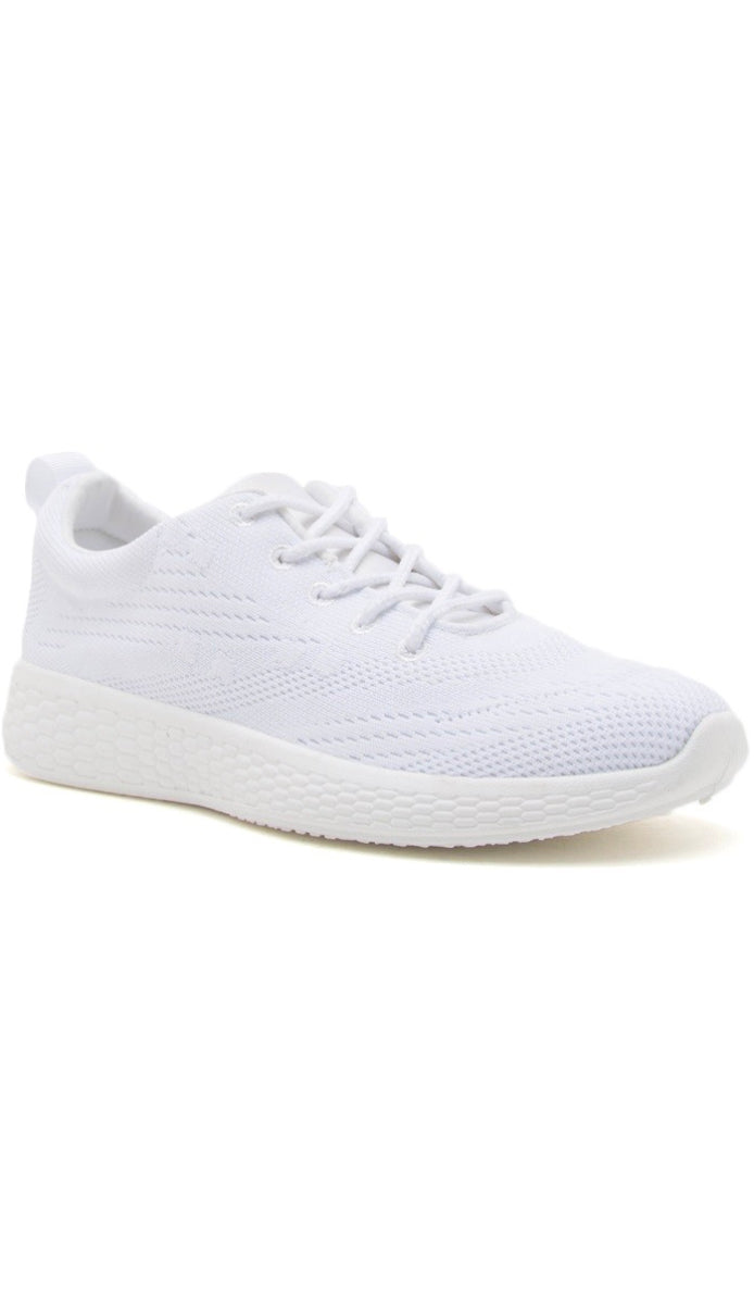 Lace Up Comfort Sneakers- White