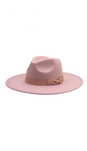 Bow Band Wide Brim Hat- Lilac